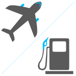Plane and fuel icon